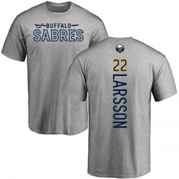 Men's Johan Larsson Buffalo Sabres Backer T-Shirt - Ash