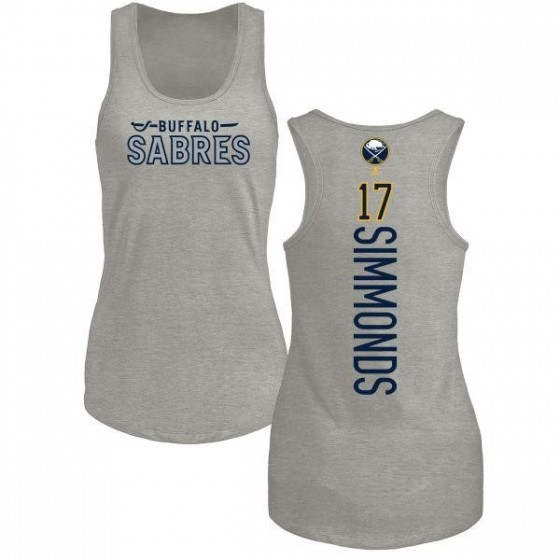 Women's Wayne Simmonds Buffalo Sabres Backer Tri-Blend Tank Top - Ash