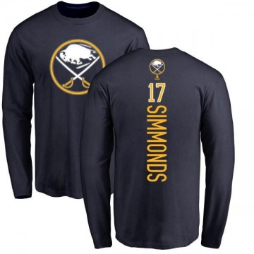 Youth Wayne Simmonds Buffalo Sabres Backer Long Sleeve T-Shirt - Navy