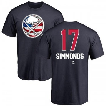 Youth Wayne Simmonds Buffalo Sabres Name and Number Banner Wave T-Shirt - Navy